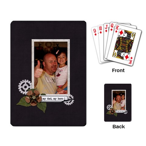 Playing Cards: My Dad, My Hero By Jennyl   Playing Cards Single Design   Esipou7fiv95   Www Artscow Com Back