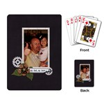Playing Cards: My Dad, My Hero - Playing Cards Single Design