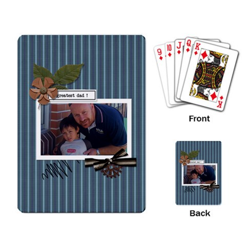 Playing Cards: Greatest Dad By Jennyl   Playing Cards Single Design   Pyqcsfb01h1l   Www Artscow Com Back
