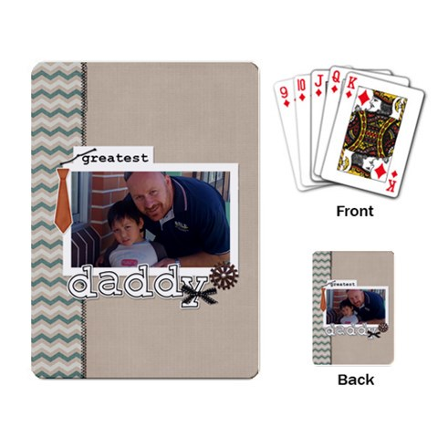 Playing Cards: Greatest Daddy By Jennyl   Playing Cards Single Design   Lu9ja69oreme   Www Artscow Com Back