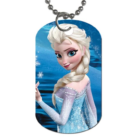 Elsa 1 By Jalpa   Dog Tag (one Side)   Lu5n2md5tacy   Www Artscow Com Front