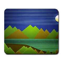 Landscape  Illustration Large Mouse Pad (rectangle) by dflcprints