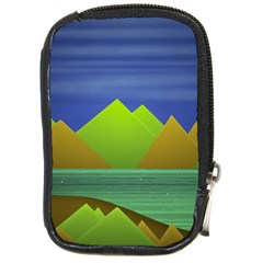 Landscape  Illustration Compact Camera Leather Case by dflcprints