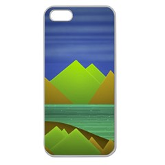 Landscape  Illustration Apple Seamless Iphone 5 Case (clear) by dflcprints