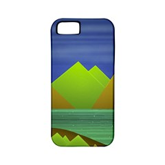 Landscape  Illustration Apple Iphone 5 Classic Hardshell Case (pc+silicone) by dflcprints