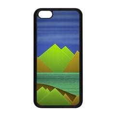 Landscape  Illustration Apple Iphone 5c Seamless Case (black) by dflcprints
