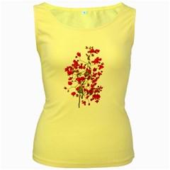Red Petals Women s Tank Top (yellow) by dflcprints