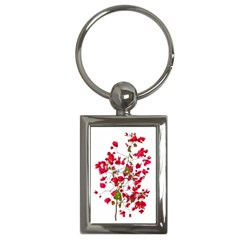 Red Petals Key Chain (rectangle) by dflcprints