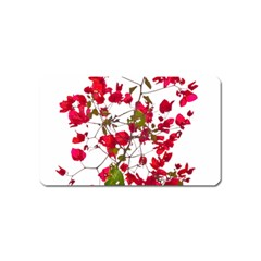 Red Petals Magnet (name Card) by dflcprints