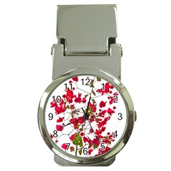 Red Petals Money Clip With Watch