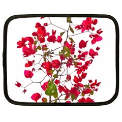 Red Petals Netbook Sleeve (large) by dflcprints