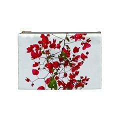 Red Petals Cosmetic Bag (medium) by dflcprints