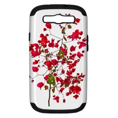 Red Petals Samsung Galaxy S Iii Hardshell Case (pc+silicone) by dflcprints