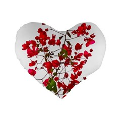 Red Petals 16  Premium Heart Shape Cushion  by dflcprints