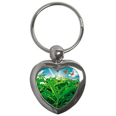 Nature Day Key Chain (heart) by dflcprints
