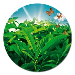 Nature Day Magnet 5  (round)