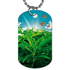 Nature Day Dog Tag (one Sided) by dflcprints
