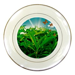 Nature Day Porcelain Display Plate by dflcprints