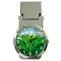 Nature Day Money Clip With Watch by dflcprints
