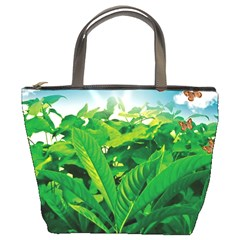 Nature Day Bucket Handbag by dflcprints