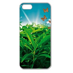 Nature Day Apple Seamless Iphone 5 Case (clear) by dflcprints