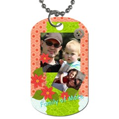 Family By Family   Dog Tag (two Sides)   Qnidvmdckxc8   Www Artscow Com Front