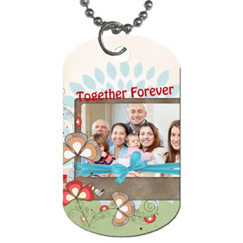 Family By Family   Dog Tag (one Side)   G5g2ix4afehl   Www Artscow Com Front