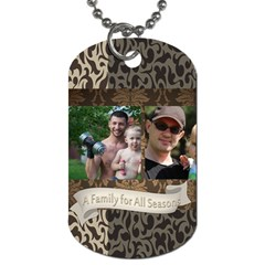 Family By Family   Dog Tag (two Sides)   Htpcpscn6e7p   Www Artscow Com Front