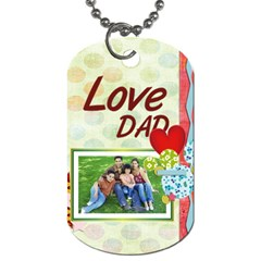 Fathers Day By Dad   Dog Tag (two Sides)   Zslahoeuh3lj   Www Artscow Com Front