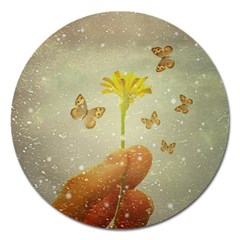 Butterflies Charmer Magnet 5  (round) by dflcprints