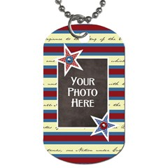 Celebrate America 2 Side Dog Tag 3 By Lisa Minor   Dog Tag (two Sides)   Fg7yfx8ytyw9   Www Artscow Com Front