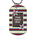 Celebrate America 2 side dog tag 3 - Dog Tag (Two Sides)