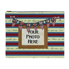 Celebrate America Xl Cosmetic Bag By Lisa Minor   Cosmetic Bag (xl)   Umcoaket8cgr   Www Artscow Com Front