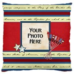 Celebrate America LG 1 side cushion case 2 - Large Cushion Case (One Side)
