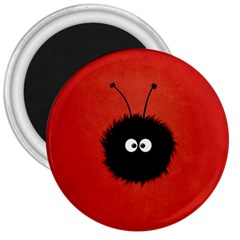 Red Cute Dazzled Bug 3  Button Magnet by CreaturesStore
