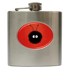 Red Cute Dazzled Bug Hip Flask by CreaturesStore