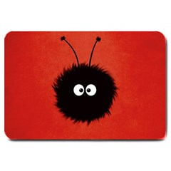 Red Cute Dazzled Bug Large Door Mat by CreaturesStore