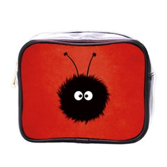 Red Cute Dazzled Bug Mini Travel Toiletry Bag (One Side) by CreaturesStore