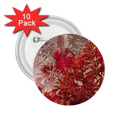 Decorative Flowers Collage 2.25  Button (10 pack) by dflcprints