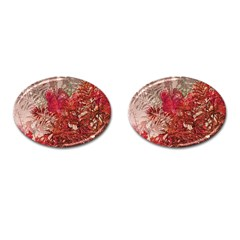 Decorative Flowers Collage Cufflinks (oval) by dflcprints