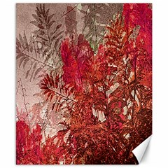 Decorative Flowers Collage Canvas 8  X 10  (unframed) by dflcprints