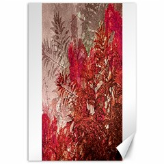 Decorative Flowers Collage Canvas 12  X 18  (unframed) by dflcprints