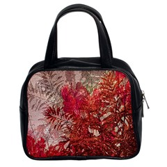 Decorative Flowers Collage Classic Handbag (two Sides) by dflcprints