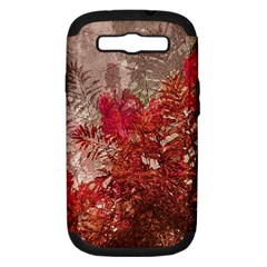 Decorative Flowers Collage Samsung Galaxy S Iii Hardshell Case (pc+silicone) by dflcprints