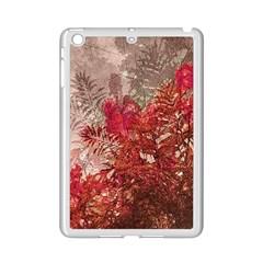 Decorative Flowers Collage Apple iPad Mini 2 Case (White) by dflcprints