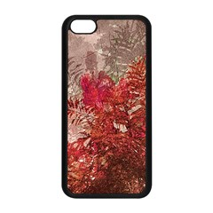 Decorative Flowers Collage Apple Iphone 5c Seamless Case (black) by dflcprints
