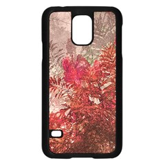 Decorative Flowers Collage Samsung Galaxy S5 Case (black) by dflcprints