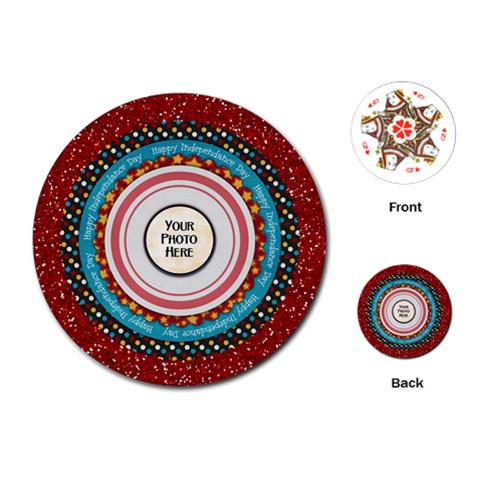 Celebrate America Round Playing Cards By Lisa Minor   Playing Cards (round)   Bxgw3iomo1gt   Www Artscow Com Front
