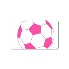 Soccer Ball Pink Magnet (name Card) by Designsbyalex