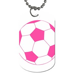 Soccer Ball Pink Dog Tag (two Sided)  by Designsbyalex
